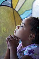 Three Year Old Girl Praying Stock Photo - Premium Royalty-Freenull, Code: 621-01012972