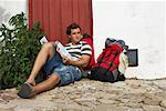 Backpacker Relaxing, Spain    Stock Photo - Premium Royalty-Free, Artist: Masterfile, Code: 600-01015451