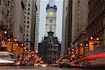 South Broad Street at Night, Philadelphia, Pennsylvania, USA    Stock Photo - Premium Rights-Managed, Artist: Mark Downey, Code: 700-01029739