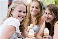 Friends Eating Ice Cream    Stock Photo - Premium Rights-Managednull, Code: 700-01029918