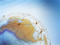 World Globe with Connection Lines    Stock Photo - Premium Rights-Managednull, Code: 700-01030281