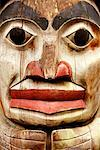 Totem Pole, Vancouver, British Columbia, Canada    Stock Photo - Premium Rights-Managed, Artist: Mike Randolph, Code: 700-01030428