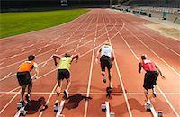 Men Starting Race    Stock Photo - Premium Royalty-Freenull, Code: 600-01037077