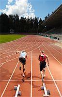 Men Starting Race    Stock Photo - Premium Royalty-Freenull, Code: 600-01037079