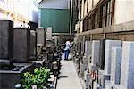 Woman at Gravesite, Japan