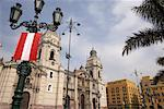 La Catedral de Lima, Plaza de Armas, Lima, Peru    Stock Photo - Premium Rights-Managed, Artist: Gail Mooney, Code: 700-01037247