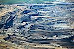 Aerial View of Oil Sands Mining, Muskeg River Mine, Athabasca Oil Sands, Alberta, Canada