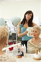 Women at Hair Salon    Stock Photo - Premium Royalty-Free, Artist: Masterfile, Code: 600-01037726