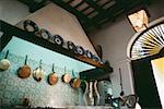 A bar adorned cooking pans and plates, Old San Juan, Puerto Rico Stock Photo - Premium Royalty-Free, Artist: Arcaid, Code: 625-01040939