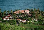 Scenic view of a resort amidst palm trees, Tobago, Caribbean