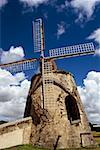 Low angle view of a windmill, St. Croix, Virgin Islands Stock Photo - Premium Royalty-Free, Artist: Arcaid, Code: 625-01041065