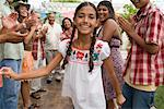 Girl Dancing at Family Gathering    Stock Photo - Premium Rights-Managed, Artist: Tim Mantoani, Code: 700-01041238