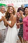 People Dancing at Family Gathering    Stock Photo - Premium Rights-Managed, Artist: Tim Mantoani, Code: 700-01041242