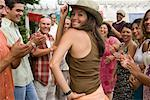 Woman Dancing at Family Gathering    Stock Photo - Premium Rights-Managed, Artist: Tim Mantoani, Code: 700-01041243