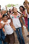 Girls Dancing at Family Gathering    Stock Photo - Premium Rights-Managed, Artist: Tim Mantoani, Code: 700-01041245