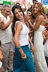 Woman Dancing at Family Gathering    Stock Photo - Premium Rights-Managed, Artist: Tim Mantoani, Code: 700-01041246
