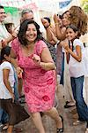 Woman Dancing at Family Gathering    Stock Photo - Premium Rights-Managed, Artist: Tim Mantoani, Code: 700-01041250