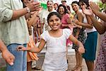 Girl Dancing at Family Gathering    Stock Photo - Premium Rights-Managed, Artist: Tim Mantoani, Code: 700-01041285