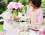 Girl at Tea Party    Stock Photo - Premium Royalty-Free, Artist: Janet Bailey, Code: 600-01041942