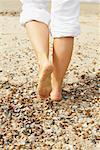 Close-up of Woman's Feet on Beach    Stock Photo - Premium Rights-Managed, Artist: Masterfile, Code: 700-01042838