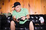 Man Playing Video Games    Stock Photo - Premium Rights-Managed, Artist: Push Pictures, Code: 700-01072462