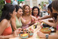 Woman Showing Engagement Ring to Friends at Party    Stock Photo - Premium Rights-Managednull, Code: 700-01072567
