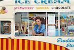 Ice Cream Vendor, Carters Steam Fair, England