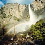 Rainbow Over Waterfall, Yosemite National Park, California, USA    Stock Photo - Premium Rights-Managed, Artist: Ben Seelt, Code: 700-01072721