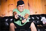 Man Playing Video Games    Stock Photo - Premium Rights-Managed, Artist: Push Pictures, Code: 700-01072752