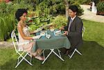 Couple Having Dinner Outdoors