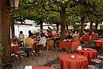 People at Outdoor Cafe by, Lake Como, Bellagio, Italy