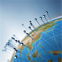 Globe and Pins Stock Photo - Premium Rights-Managednull, Code: 700-01083535
