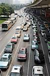 Overview of Traffic, Shanghai, China    Stock Photo - Premium Rights-Managed, Artist: Chris McGuire, Code: 700-01083933