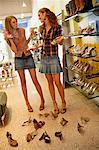 Teenaged Girls Shopping For Shoes    Stock Photo - Premium Rights-Managed, Artist: Raoul Minsart, Code: 700-01083996