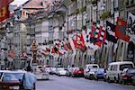 Cars parked on the street, Berne, Berne Canton, Switzerland Stock Photo - Premium Royalty-Freenull, Code: 625-01095316