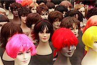 Wigs, Albert Cuyp Market, Amsterdam, Holland    Stock Photo - Premium Rights-Managednull, Code: 700-01099945
