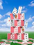 Falling House of Cards Stock Photo - Premium Rights-Managed, Artist: Nora Good, Code: 700-01109931