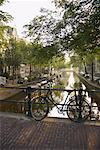Canal at Sunrise, Amsterdam, Netherlands    Stock Photo - Premium Rights-Managed, Artist: Andrej Kopac, Code: 700-01110216