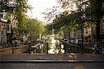 Canal at Sunrise, Amsterdam, Netherlands    Stock Photo - Premium Rights-Managed, Artist: Andrej Kopac, Code: 700-01110217