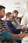 Students in Computer Lab    Stock Photo - Premium Royalty-Free, Artist: Masterfile, Code: 600-01112291