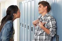 student fighting - Couple Fighting at School    Stock Photo - Premium Royalty-Freenull, Code: 600-01112355