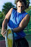 Man Playing Tennis    Stock Photo - Premium Rights-Managed, Artist: Tim Kiusalaas, Code: 700-01112454