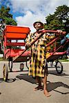 Portrait of Rickshaw Driver, Antsirabe, Madagascar    Stock Photo - Premium Rights-Managed, Artist: R. Ian Lloyd, Code: 700-01112616