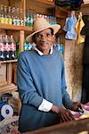 Portrait of Man Working in Variety Store, Ambalavao, Madagascar    Stock Photo - Premium Rights-Managed, Artist: R. Ian Lloyd, Code: 700-01112682