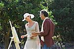 Couple Painting Together    Stock Photo - Premium Royalty-Free, Artist: Masterfile, Code: 600-01112803
