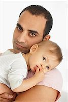 Portrait of Father and Baby    Stock Photo - Premium Royalty-Freenull, Code: 600-01112876