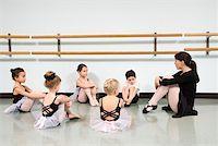 pre-teen boy models - Children in ballet class watching instructor Stock Photo - Premium Royalty-Freenull, Code: 604-01119491