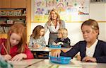 Teacher with Children in Classroom    Stock Photo - Premium Rights-Managed, Artist: Masterfile, Code: 700-01119802