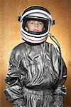 Boy Dressed as Astronaut