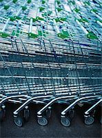 empty shopping cart - Grocery Carts    Stock Photo - Premium Royalty-Freenull, Code: 600-01120631